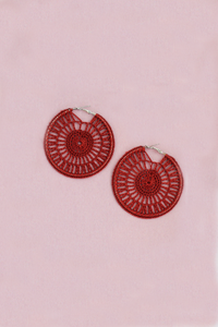 Statement Woven Hoop - Red