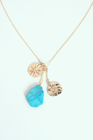 Delicate Charm Necklace - Turquoise