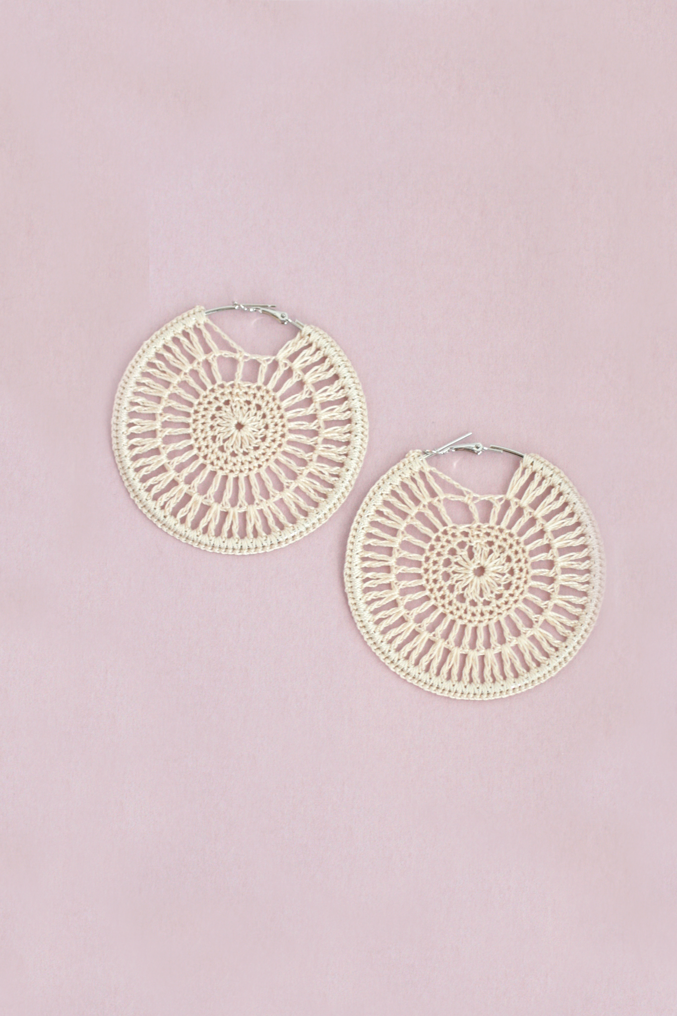 Statement Woven Hoop - Ivory
