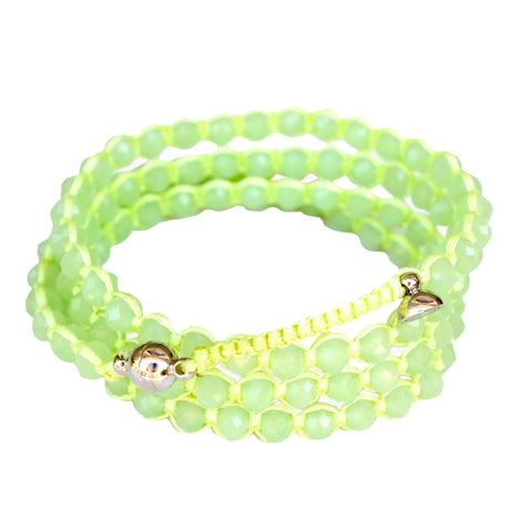 Candy Crystal Wrap Bracelet HONEYDEW