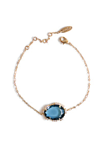 Single Stone Bracelet - London Blue