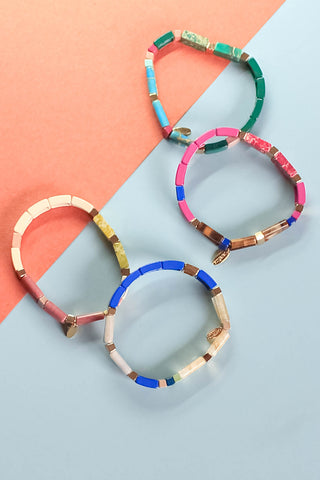Athena Tile Stretch Bracelet