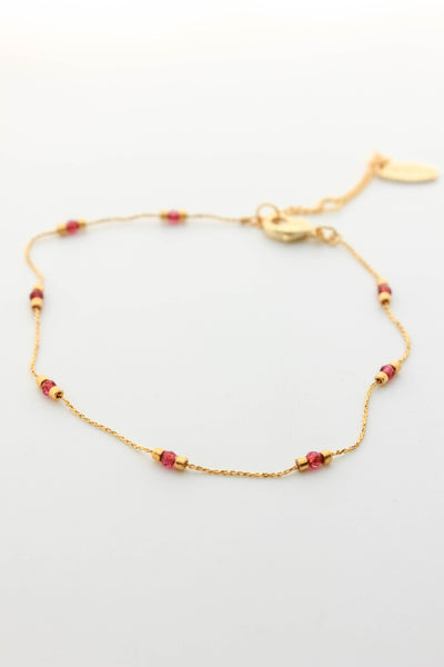 Glass Beaded Chain Bracelet