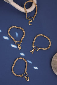 Monogram Curb Chain Bracelet