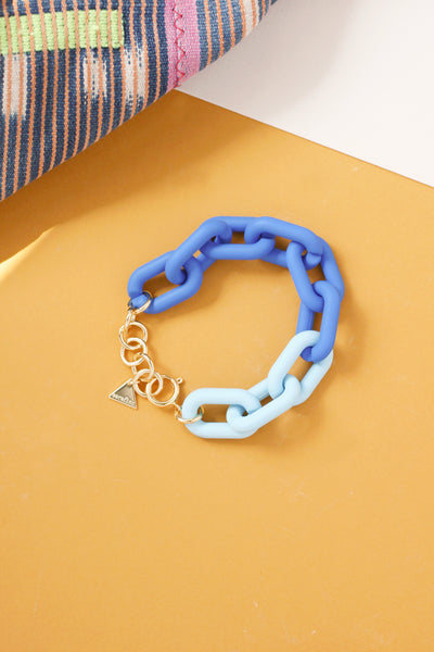 Matte Neon Colored Chain Bracelet