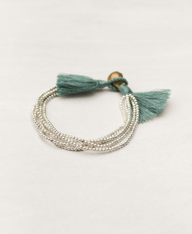 Bells and Tassels Single Bracelet in Bronze and Silver