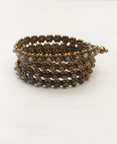 Triple Wrap Gem Bracelet