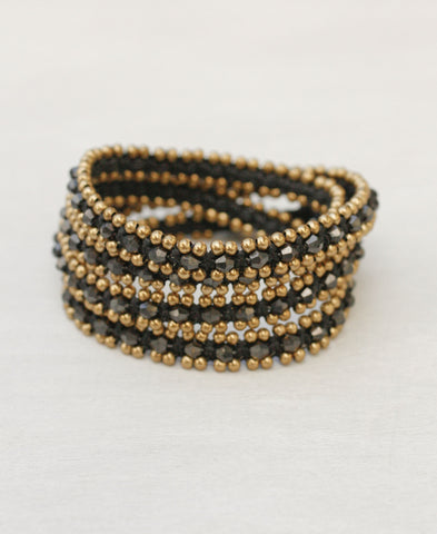 Triple Wrap Crystals Bracelet