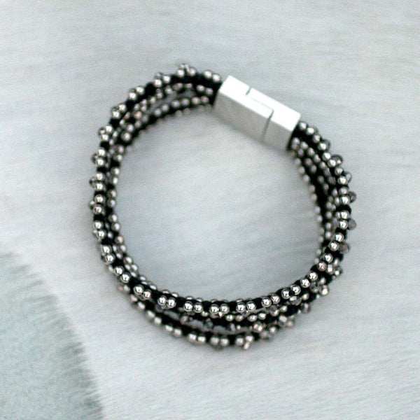Sparkle Handwoven 3-in-1 Bracelet - BLACK