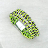 Sparkle Handwoven 3-in-1 Bracelet-NEON YELLOW