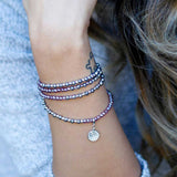 Charmed Magnetic Clasp Multi Wrap - Amethyst