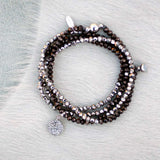 Charmed Magnetic Clasp Multi Wrap - Black