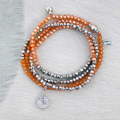 Charmed Magnetic Clasp Multi Wrap - Orange