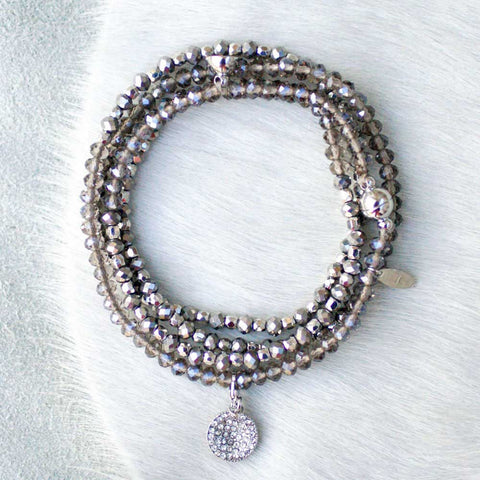 Charmed Magnetic Clasp Multi Wrap - Smokey