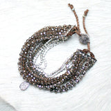 10-in-1 Magnetic Clasp Prelayered Bracelet with Pave Charm - SMOKEY