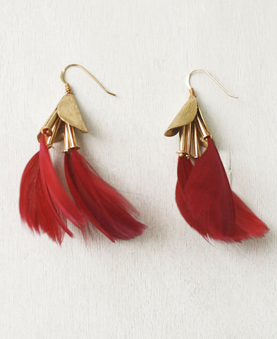 Dancing Feathers Statement Earrings