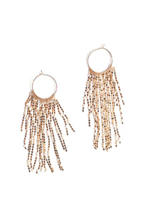 Waterfall Hoop Earring - Gold