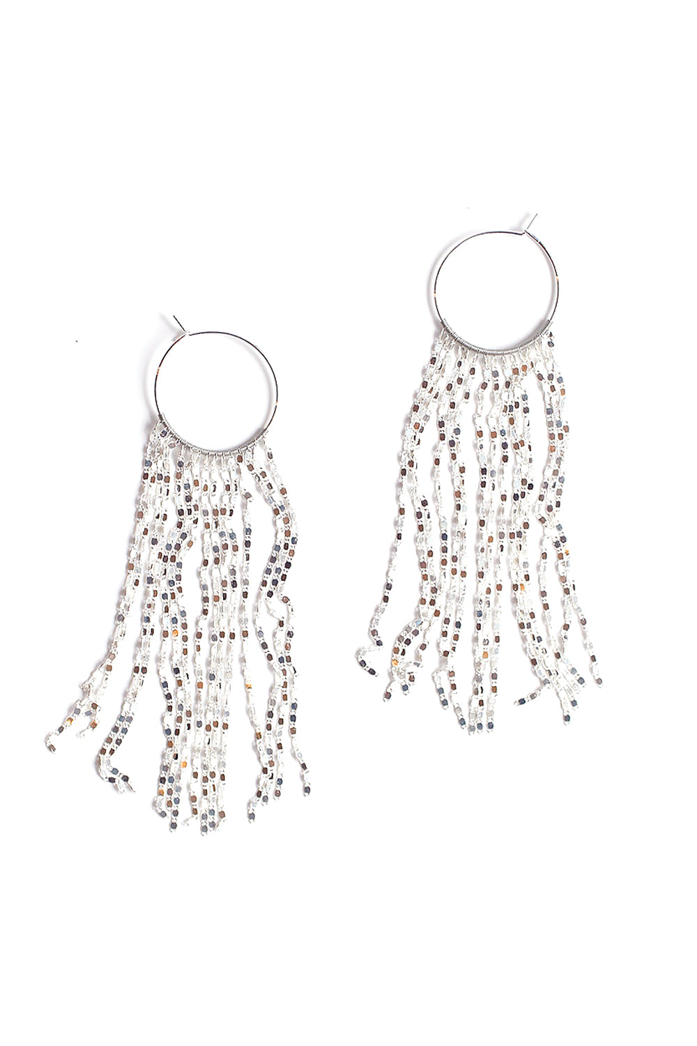 Waterfall Hoop Earring - Sliver