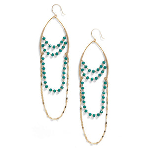 Wishbone Earrings - Teal