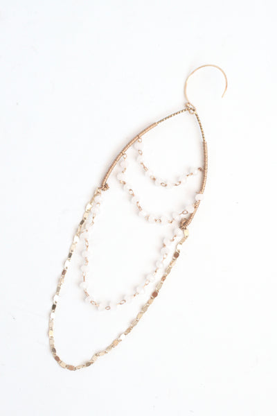 Chandelier Wishbone Earrings - White