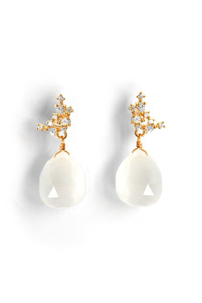 Gemstone Post Earrings - Ice