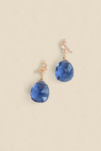 Gemstone Post Earrings - London Blue