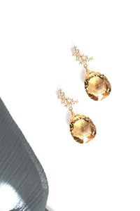 Gemstone Post Earrings - Yellow