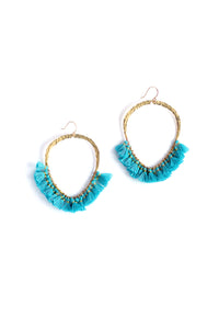 Serefina Tassel Hoop Earrings