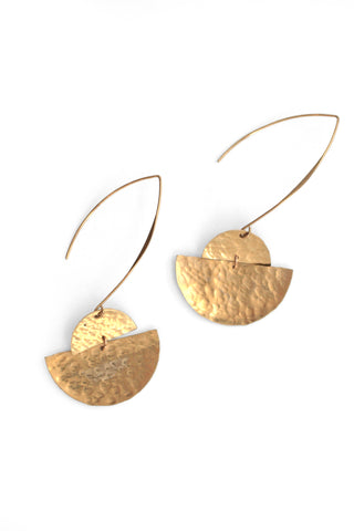 Textured Earrings - Gold