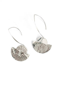 Textured Earrings - Silver