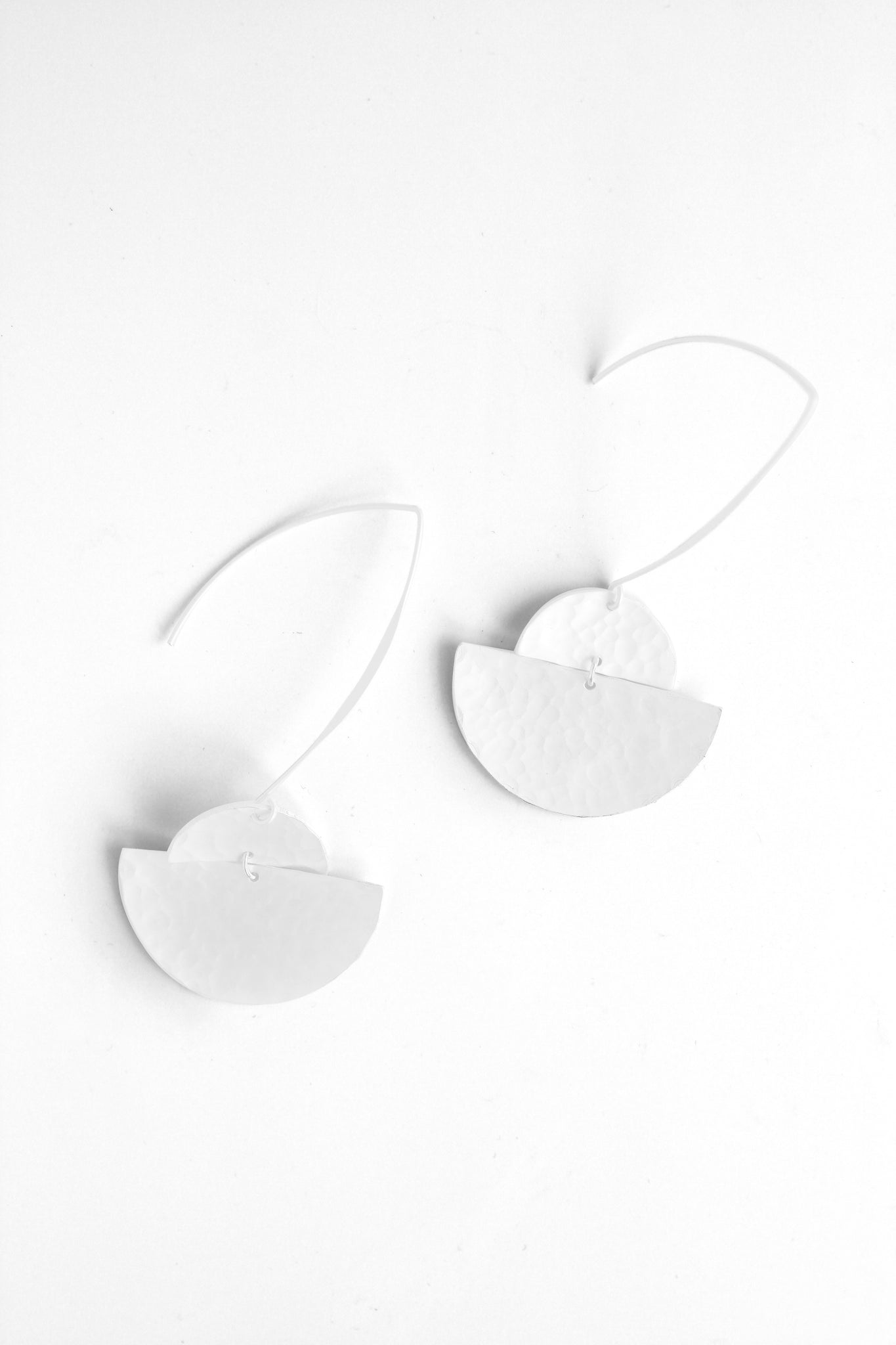 Textured Earrings - White