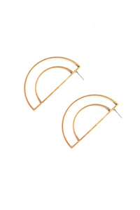 Half Moon Earrings - Gold
