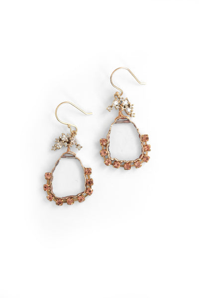 Decorated Sliced Earrings - Clear
