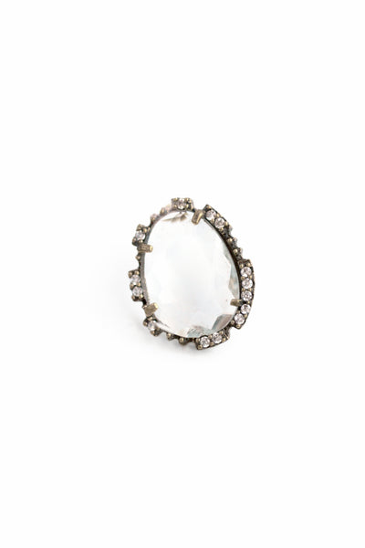 Statement Post Earrings - Clear