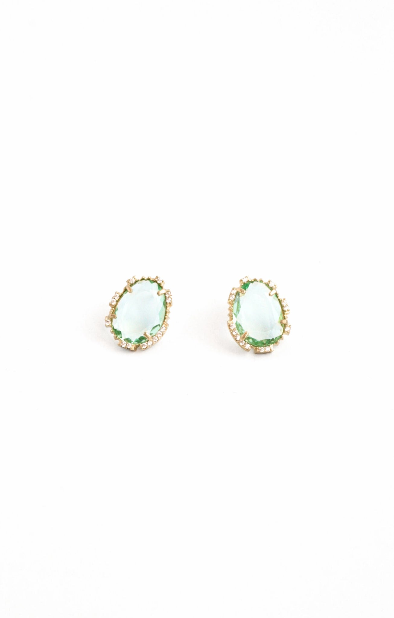 Statement Post Earrings - Mint