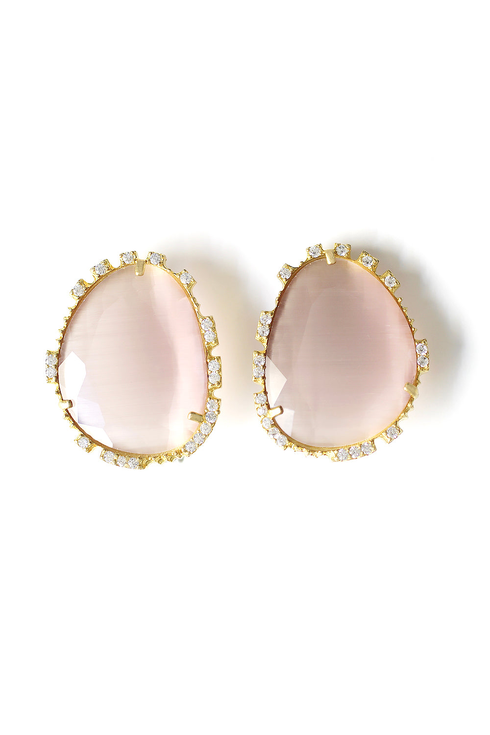 Large Statement Post Earrings - Mauve