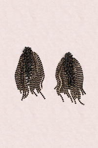Crystal Statement Earrings - Black