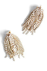 Crystal Statement Earrings - White