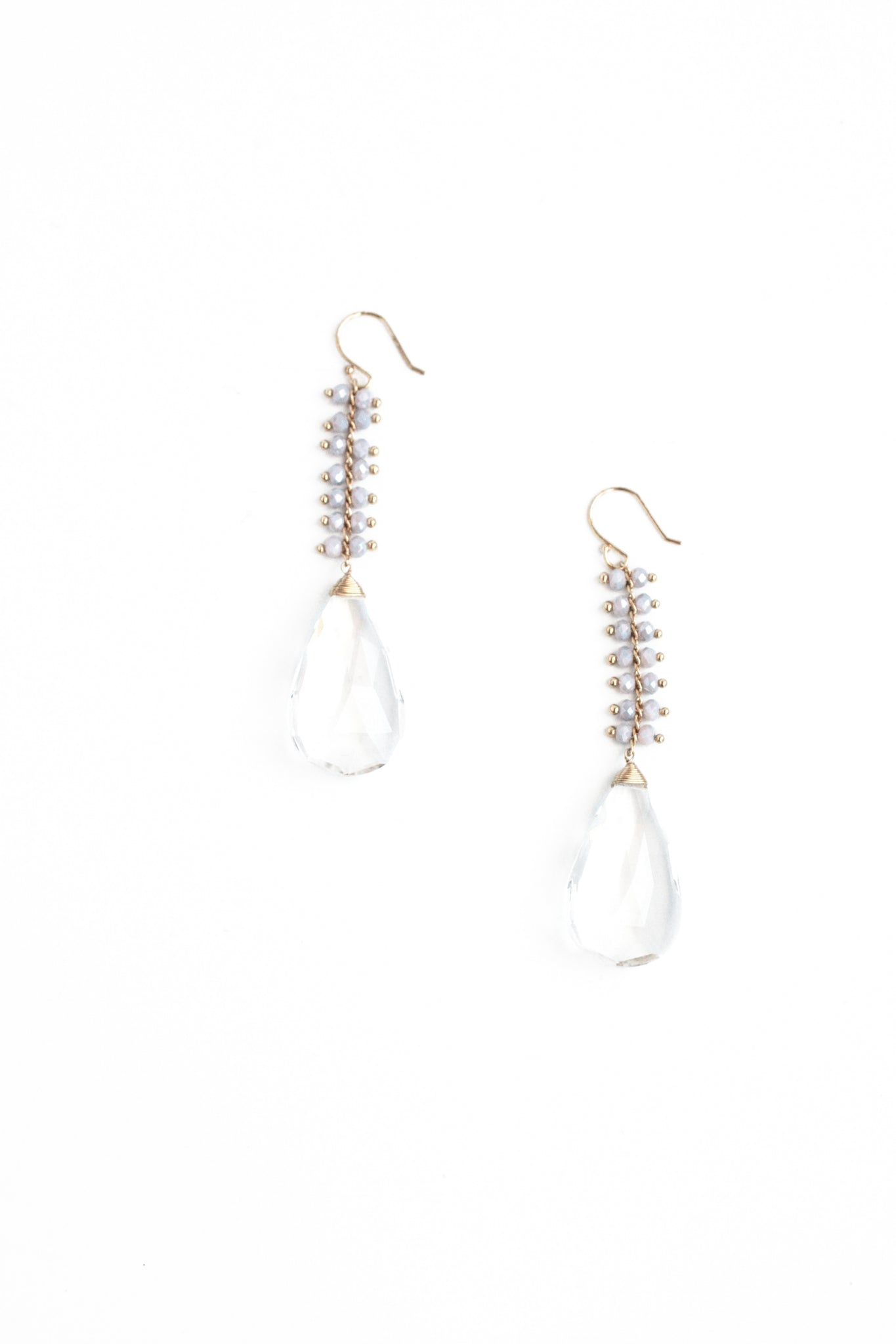 Crystal Drop Earrings - Clear