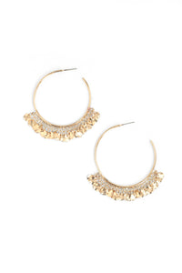 Mini Disk Hoop Earrings - Gold