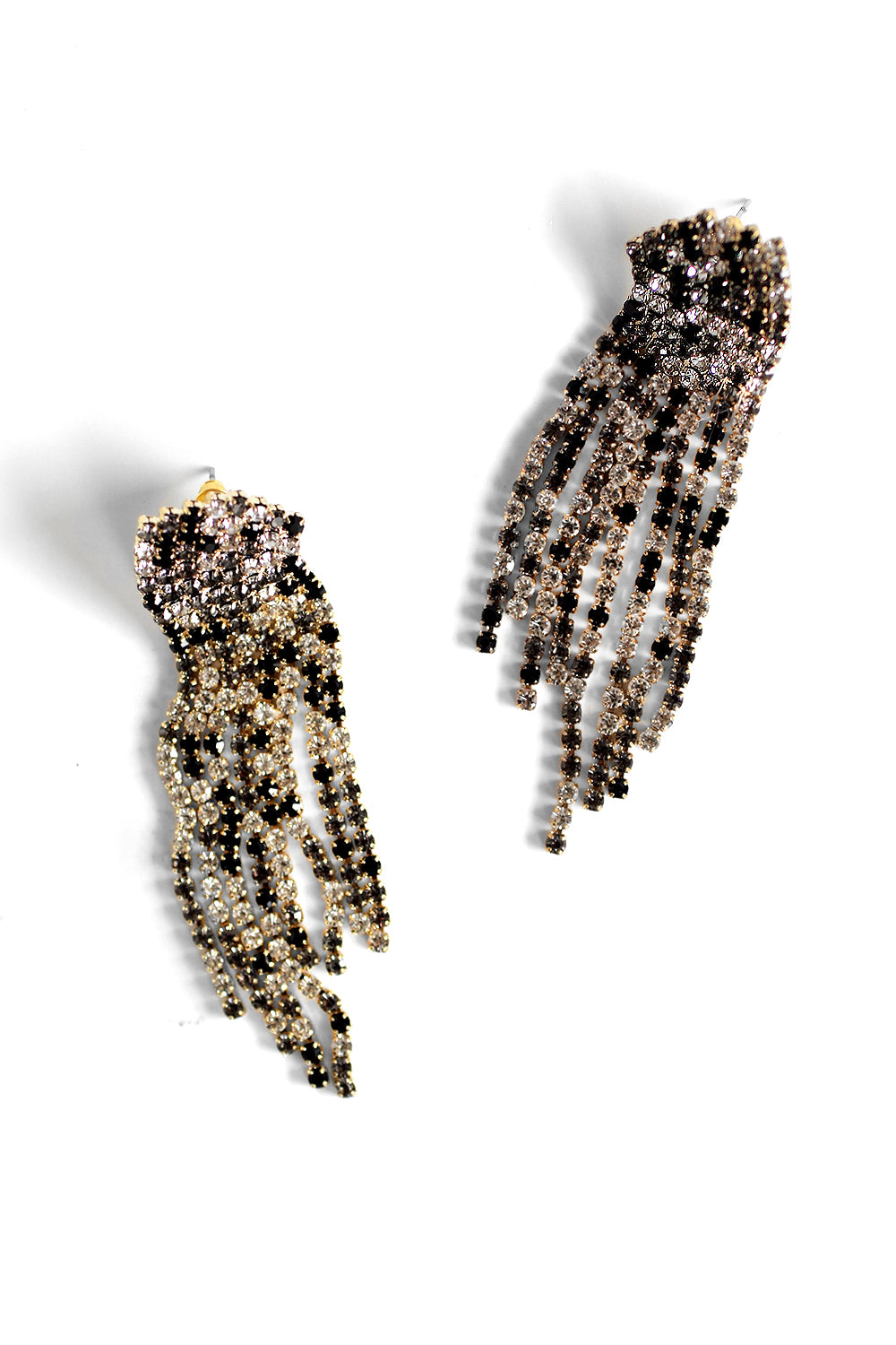 Sparkle Statement Earrings - Black