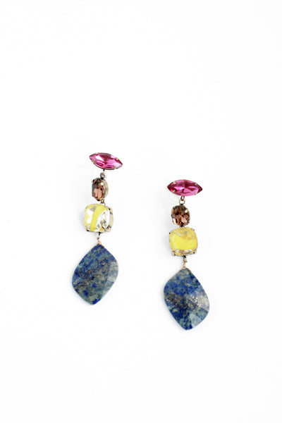 Quad Drop Earrings - Blue
