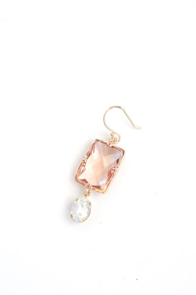 Iridescent Drop Earrings - Gold