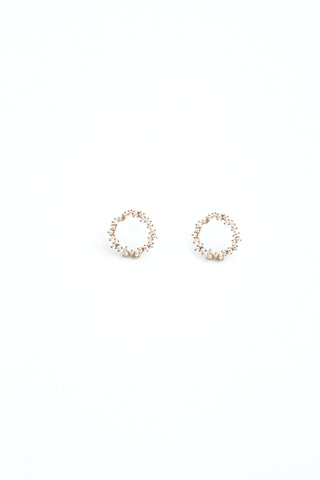 Circle of Life  Stud Earrings - Clear