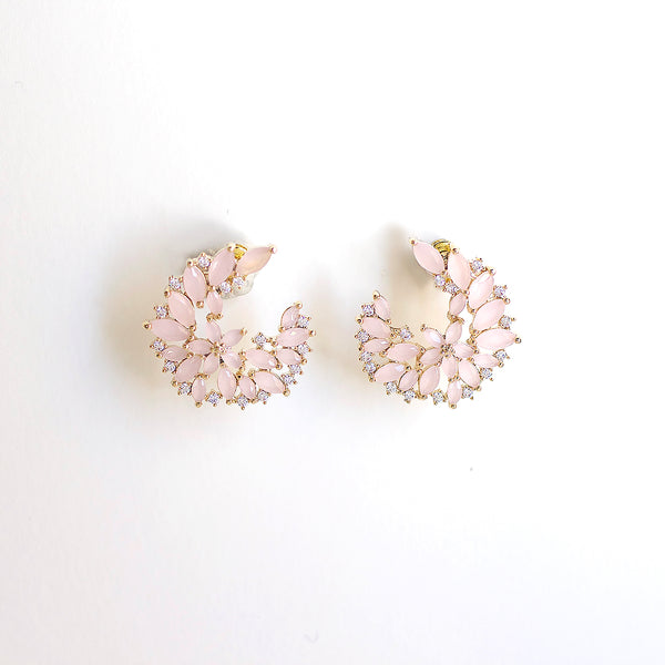 Dewy Vine Post Earrings - Blush