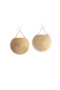 Gong Earrings - Gold