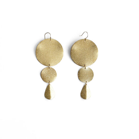 Statement Disk Earrings - Gold