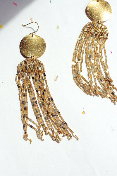 Dancing Lights Drop Earrings - Gold