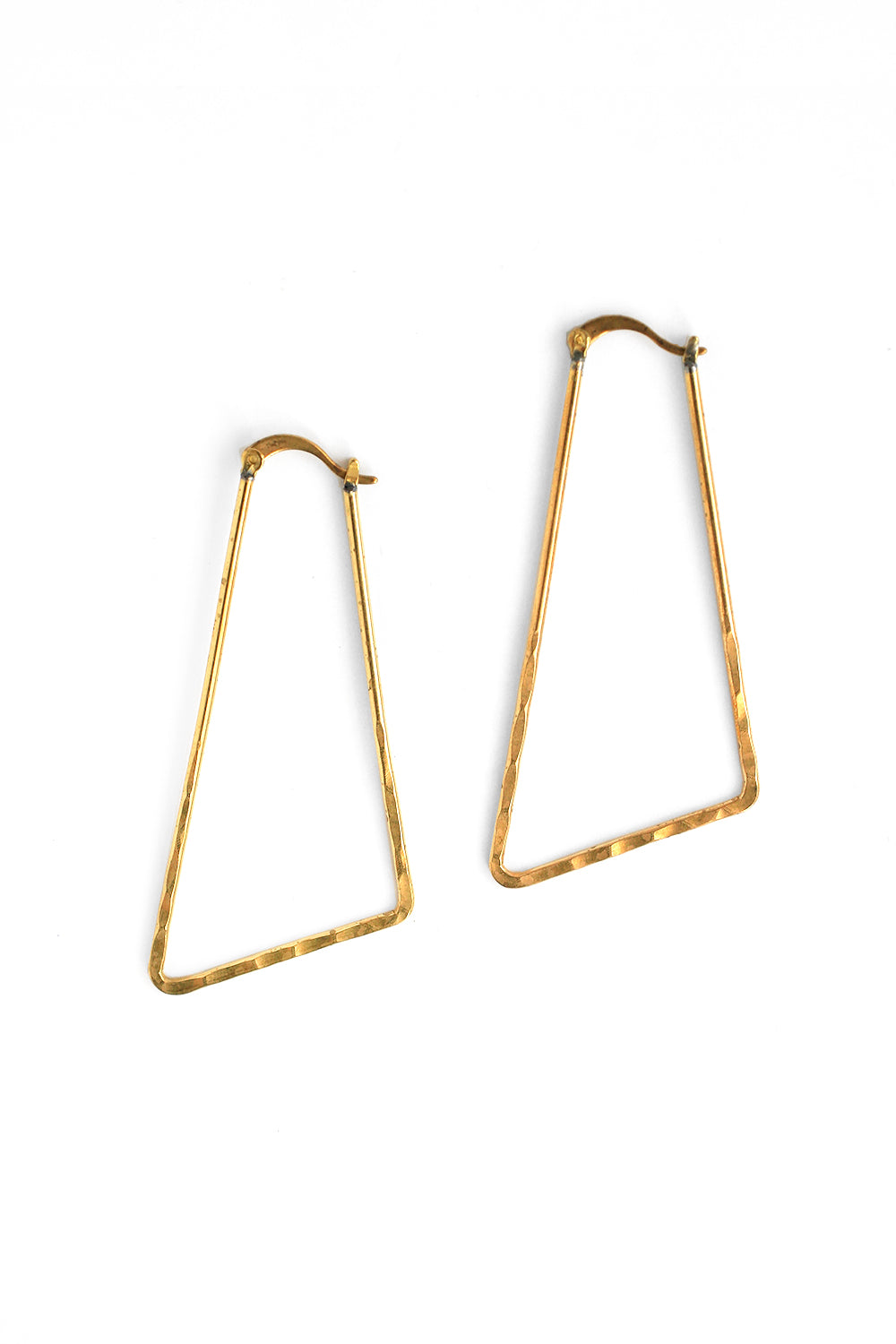 Triangle Hoop Earrings - Gold
