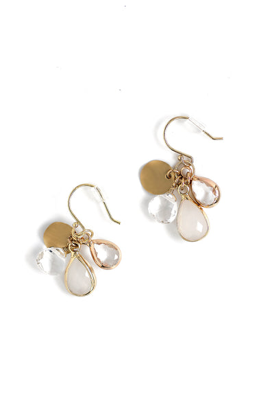 Crystal Drop Earrings - White